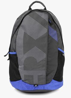4067e59968f1 Buy HRX by Hrithik Roshan Charcoal Grey Synthetic Leather Backpack for Men  Online India