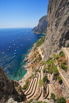 Cliff Side Trail, Isle of Capri, Italy .  riding up the twisting roads was an experience!