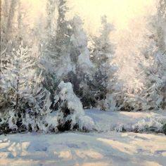 "Michael Godfrey   ""Wonderland"" 6x6 oil"