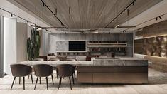 IQ-18-MT Apartment Interior, Kitchen Interior, Luxury Apartments, Luxury Homes, Küchen Design, House Design, Room Dimensions, Luxury Home Decor, Interior Design Studio