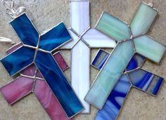 Handmade+Stained+Glass+Religious+Cross+Suncatcher+Decoration+Easter+Church+Gift