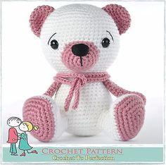 #Teddy bear #amigurumi toy pattern on cd, teddy #crochet, #amigurumi bear pattern, View more on the LINK: http://www.zeppy.io/product/gb/2/182217588639/