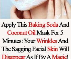 With this natural facial cleanser of coconut oil and baking soda youll say goodbye to the wrinkles Coconut Oil Facial, Coconut Oil For Acne, Coconut Oil Uses, Organic Coconut Oil, Coconut Oil Hair Treatment, Coconut Oil Hair Growth, Coconut Oil Hair Mask, Baking Soda Facial, Baking Soda Coconut Oil