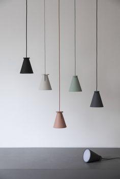 Silicone pendant #lamp / floor lamp BOLLARD by MENU A/S | #design Shane Schneck @menuworld