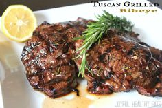 Tuscan Grilled Ribeye... Amazing Steak.. perfect for a dinner night #steakover #steakrecipe