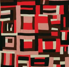 scenerylabel:  Mary Lee Bendolph, Housetop Variation, 1998. Quilted by Essie Bendolph Pettway, 2001 Gee's Bend.Source >