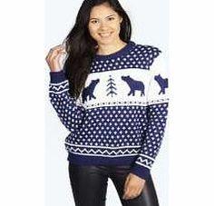 8da561d84b45 boohoo Polar Bear Jumper - navy azz14638 Knitwear gets knock-out this  season with pretty