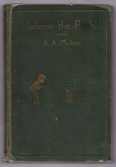 Milne, A.A.; Shepard, Ernest H. (illustrator). Winnie-the-Pooh. Toronto: McClelland & Stewart, Ltd., 1927. 158 pp. 8vo. 2nd Cdn ed. Hardcover. Fair. Spots to cloth, hinges cracked, head and heel of spine frayed, corners bumped. Front free endpaper missing. A few small tears in edge of pages.