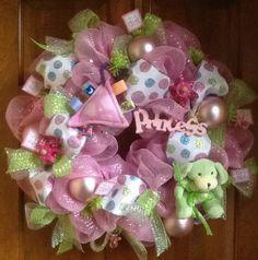 Baby Girl Wreath.