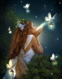 Lascia che la magia trasformi le tue paure, in piccole fiammelle di speranza ,trasportate in cielo dalle fate . Rosac Uno©