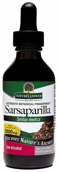 Nature's Answer Sarsaparilla Root with Organic Alcohol, 2-Fluid Ounces >>> Discover this special product, click the image : Healthy Herbal Supplements