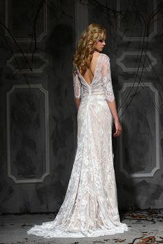 Stunning long sleeve lace wedding dress from Impression Bridal.