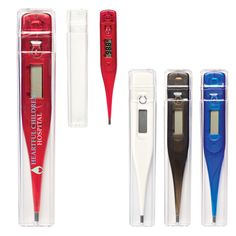 Thermometer - Thermometer.  Digital LCD Display.  Beep Alert when Temperature has been Measured. Automatic Shut Off Feature.