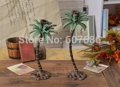2 Pieces Cast Iron Tall Palm Tree Candle Holders Candlesticks Metal Hawaii Accents Home Table Decoration EMS Fast Free Shipping