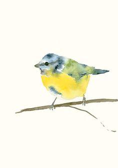 Pájaro un herrerillo impresión de arte