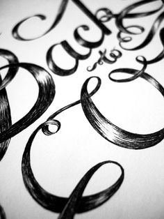 Back To Oz - ink lettering by MaricorMaricar , via Behance