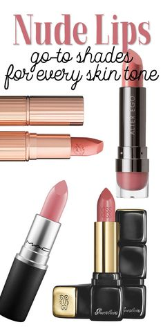 This list of nude lipsticks will have that hard to find nude lippie that works for you! #lipstick #ad