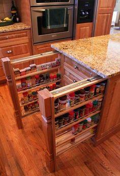 kitchen design and storage organization