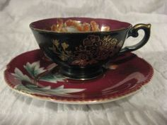 Exquisite Tea Cup & Saucer Trimont China Japan Japanese Made In Japan Vintage photo