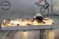 Moderní vánoční svícen na stůl.