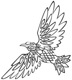 Tribal Raven design (UTH1105) from UrbanThreads.com 20 May 2013