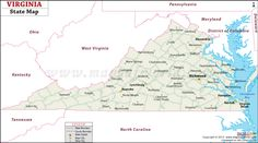 Free State Maps With County And City Virginia County Map This - Map of virginia cities