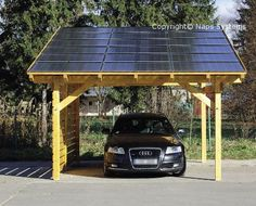 A solar-powered carport is at the same time stylish and eco-friendly. It produces electrical energy with no harmful emissions.