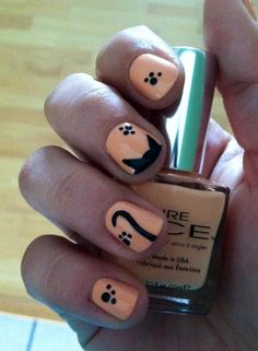 Kitty cat nails :) - Imgur  nori nails!