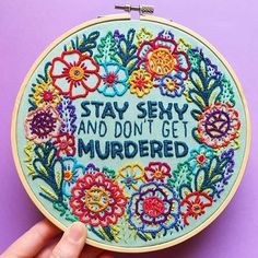 Stay sexy! Embroidery by @kellryan #embroidery #sexy #ohhdeer #makers
