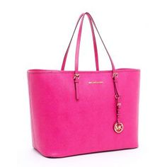 Michael Kors Cartera Jet Set Medium Travel Fucsia Zinnia Saffiano| Linio Venezuela