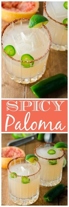This spicy paloma is easy to make with a little jalapeno simple syrup, or a pepper-infused tequila - plus it goes down super smooth with any Mexican food!