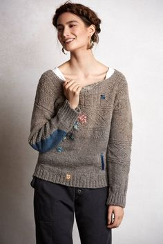 Kapital Patchknit Sweater - anthropologie.com