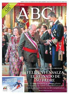 La portada de ABC del domingo 7 de enero