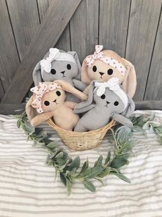 Excited to share this item from my shop: Mommy and Me Choose Grey or Tan Bunny, Soft Minky Plush Fleece Rabbit Doll, Stuffed Animal Woodland Baby Bunny Toy With Headwrap Baby Boy Camo, Camo Baby Stuff, Bunny Toys, Baby Bunnies, Some Bunny Loves You, Baby Lovey, Felt Garland, Rainbow Sprinkles, Baby First Birthday