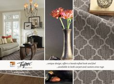A Morroccan decorative pattern available in wall to wall carpet and rugs