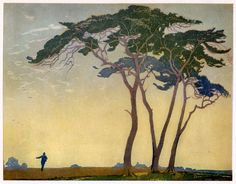 Emile Antoine Verpilleux, The Sower, wood cut
