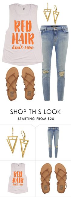 """""""Red Hair Don't Care"""" by kaitlyns0512 on Polyvore featuring J Brand, Billabong, women's clothing, women, female, woman, misses and juniors"""