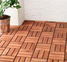 Ein Balkonfußboden aus Holz wertet Ihren Balkon oder die Terrasse auf: Per Klicksystem lassen sich Holzfliesen ganz einfach selbst verlegen