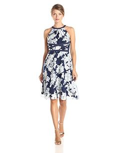 Adrianna Papell Women's Halter Floral Printed Fit and Flare Dress, Navy/Ivory, 6 Adrianna Papell http://www.amazon.com/dp/B00QGIXPB6/ref=cm_sw_r_pi_dp_378Svb0PCNZ9W