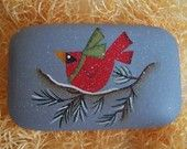 Handpainted Holiday Cardinal Guest Soap