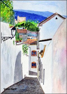 https://flic.kr/p/VZ7ZP3 | Albaicin 8 | Albaicin, Granada, watercolour