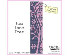 Loom Pattern: Two Tone Tree INSTANT von VikisBeadingPatterns