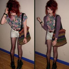 floral top and shorts <3