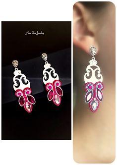 Soutache earrings by Ana Sas Jewelry