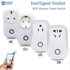 2017 Smart Wifi Socket Wireless Remote Control Socket Smart Home Switch Plug Timer Automation Control EU US UK Power Socket Plug #Affiliate