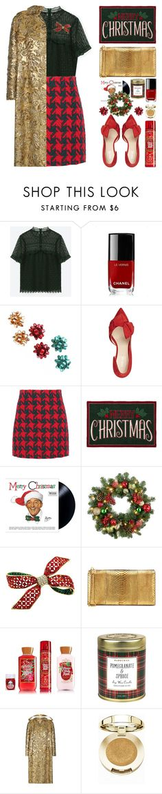 """""""In Holiday Mood"""" by stavrolga ❤ liked on Polyvore featuring Chanel, Nine West, Gucci, St. Nicholas Square, Improvements, Tom Ford, Paddywax, Prada, Milani and polyvoreeditorial"""