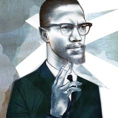 Graphic illustration of celebrity portraits, sports icons and great visual communication. Illustration Story, Portrait Illustration, Graphic Illustration, Malcolm X, Communication Art, Sport Icon, Celebrity Portraits, Illustrators, Fashion Art