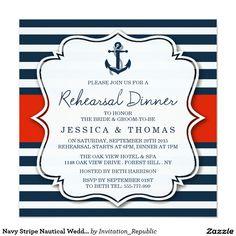 Navy Stripe Nautical Wedding Rehearsal Dinner
