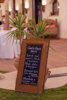 Signage ideas. http://flyawaybride.com/rustic-destination-wedding-spain/ Photography: Nadine van Biljon | Venue: Rancho del Ingles | Florist: Viveros Guzman | #WeddinginSpain #Venue #Destinationwedding #blackboard #signage #weddingideas