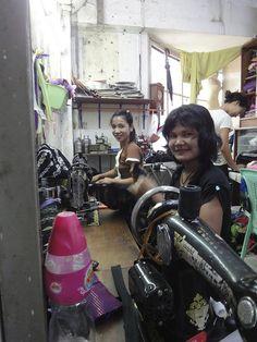 Sewing Shop. Myanmar